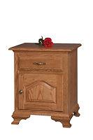 Crown Villa 1 Drawer 1 Door Nightstand|Oak in Seely OCS104|21 1/2in W x 18 1/4in D x 26 1/4in H|The Amish Home|Hardwood Furniture at the Pittsburgh Mills