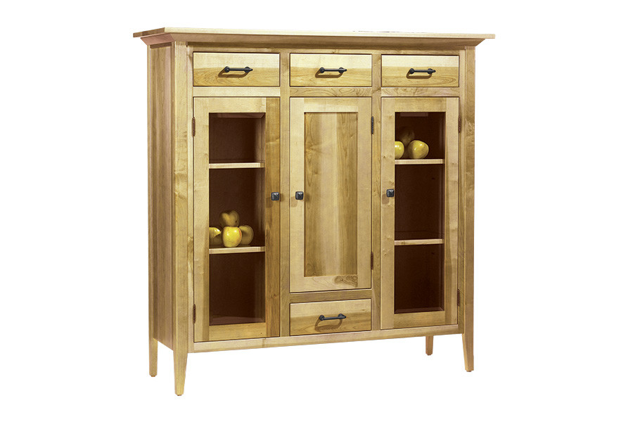 Brown Maple Dutch Pantry in Natural Finish