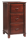 Arlington Three-drawer File Cabinet | Brown Maple in Acres OCS106 | 23 3/4in W x 24in D x 44 3/4in H | The Amish Home | Amish Furniture at the Pittsburgh Mills