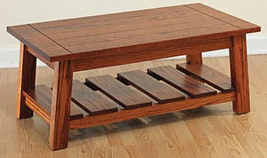 Edgewood Coffee Table|Oak in Michaels OCS113|42in W x 22in D x 18in H|The Amish Home|Amish Furniture at the Pittsburgh Mills