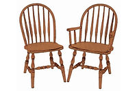 Low Feather Dining Chair|Oak in Fruitwood OCS102 | Shown with Wood Seat.|The Amish Home|Amish Furniture at the Pittsburgh Mills
