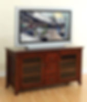 Carlisle Shaker TV Stand|Brown Maple in Rich Cherry OCS227|Three Sizes Available|The Amish Home|Amish Furniture at the Pittsburgh Mills