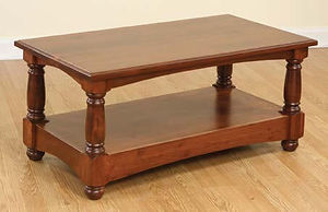 Manchester Coffee Table|Rustic Cherry in Boston OCS111|42in W x 22in D x 18in H|The Amish Home|Amish Furniture at the Pittsburgh Mills