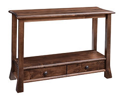 Willow Sofa Table|Brown Maple in Earthtone|42in W x 16in D x 30in H|The Amish Home|Amish Furniture at the Pittsburgh Mills