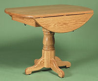 Round Drop Leaf Tale with Pedestal Base