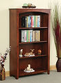 Heirwood Economy Bookcase | Rustic Cherry in Asbury OCS117 | Many Sizes Available | The Amish Home | Amish Furniture at the Pittsburgh Mills