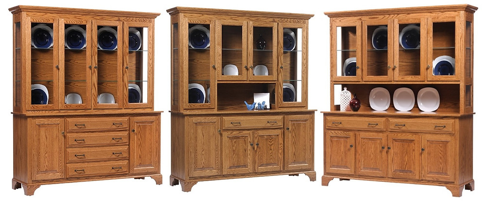 Amish Oak china cabinet - American Classics oversized china cabinet