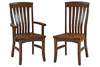 Richland Dining Chair|Oak in Boston OCS111 | Shown with Wood Seat.|The Amish Home|Amish Furniture at the Pittsburgh Mills