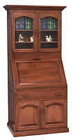 Executive Deluxe Secretary Desk with Doors|Cherry in Acres OCS106|39in W x 24in D x 79in H|The Amish Home|Amish Furniture at the Pittsburgh Mills