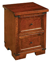 Farmhouse 2 Drawer Nightstand|Rustic Cherry in Asbury OCS117|22in W x 20in D x 28in H|The Amish Home|Hardwood Furniture at the Pittsburgh Mills