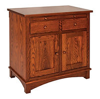 Rio 2 Door Buffet|Oak in Michaels OCS113|35in W x 19in D x 35 1/4in H|The Amish Home|Amish Furniture at the Pittsburgh Mills