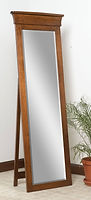 Banbury Leaner Mirror with Support|Brown Maple in Michaels OCS113|25 1/2in W x 13 1/2in D x 71in H|The Amish Home|Hardwood Furniture at the Pittsburgh Mills