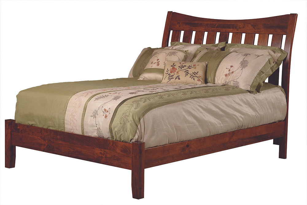 Slat Sleigh Bed