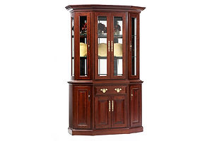 Queen Victoria 51in Canted Hutch|Cherry in Acres OCS106|52in W x 21in D x 81in H|The Amish Home|Amish Furniture at the Pittsburgh Mills Amish dining solutions