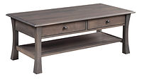 Bellville Coffee Table | Brown Maple in Antique Slate OCS118 | 48in W x 24in D x 19in H | The Amish Home | Amish Furniture at the Pittsburgh Mills