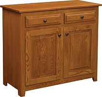 Easton Pike Two Door Buffet|Rustic Cherry in Seely OCS104|40in W x 18in D x 36in H|The Amish Home|Amish Furniture at the Pittsburgh Mills