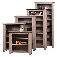 Barn Floor Bookcase | Rustic Cherry in Cappuccino OCS119 | Many Sizes Available | The Amish Home | Amish Furniture at the Pittsburgh Mills