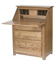 Drop Front Desk|Oak in Medium OCS110|32in W x 18 1/2in D x 43in H|The Amish Home|Amish Furniture at the Pittsburgh Mills