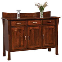 Woodbury Buffet with backsplash|Rustic Cherry in Asbury OCS117|60in W x 20 1/2in D x 42in H|The Amish Home|Amish Furniture at the Pittsburgh Mills