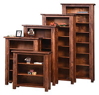 Hand Hewn Bookcase | Rustic Cherry in Michaels OCS113 | Five Sizes Available | The Amish Home | Amish Furniture at the Pittsburgh Mills