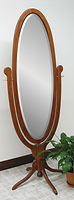 Antique Oval Pedestal Base Cheval Mirror|Cherry in Washington OCS107|26 3/4in W x 27in D x 74in H|The Amish Home|Hardwood Furniture at the Pittsburgh Mills