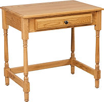 Small Writing Desk|Oak in Seely OCS104|30in W x 20in D x 30in H|The Amish Home|Amish Furniture at the Pittsburgh Mills
