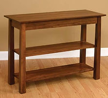Stratford Sofa Table|Rustic Cherry in Asbury OCS117|42in W x 16in D x 30in H|The Amish Home|Hardwood Furniture at the Pittsburgh Mills
