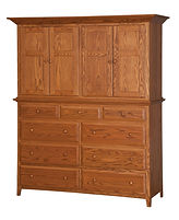 English Shaker Mule Chest| in |66 1/2in W x 23 1/2in D x 80in H|The Amish Home|Amish Furniture at the Pittsburgh Mills