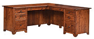 Cherry Valley L-Desk | Rustic Cherry in Michaels OCS113 | 72in W x 72in D x 30in H | The Amish Home | Amish Furniture at the Pittsburgh Mills