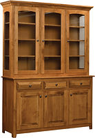 Easton Pike Three Door Hutch|Rustic Cherry in Seely OCS104|60in W x 18in D x 81in H|The Amish Home|Amish Furniture at the Pittsburgh Mills