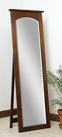 Classic Shaker Leaner Mirror with Support|Brown Maple in Michaels OCS113|23in W x 13 1/2in D x 70in H|The Amish Home|Hardwood Furniture at the Pittsburgh Mills