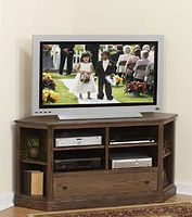 Universal Corner TV Stand|Oak in Asbury OCS117|Two Sizes Available|The Amish Home|Amish Furniture at the Pittsburgh Mills
