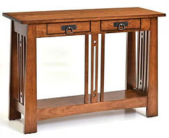 Aspen Sofa Table|Rustic Cherry in Michaels OCS113|42in W x 16in D x 30in H|The Amish Home|Hardwood Furniture at the Pittsburgh Mills