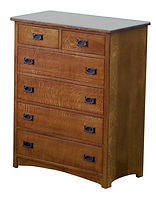 Empire Mission Chest of Drawers|Quartersawn White Oak in Michaels OCS113|40in W x 20 3/4in D x 52in H|The Amish Home|Hardwood Furniture at the Pittsburgh Mills
