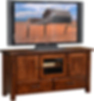 Barn Floor TV Stand | Rustic Cherry in Asbury OCS117 | 60in W x 18in D x 30in H | The Amish Home | Amish Furniture at the Pittsburgh Mills