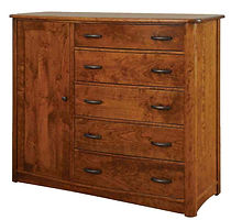 Meridian Man's Chest|Rustic Cherry in Seely OCS104|56in W x 20 5/8in D x 50in H|The Amish Home|Amish Furniture at the Pittsburgh Mills