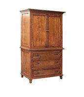 Brooklyn Armoire|Rustic Cherry in Michaels OCS113|41in W x 24 3/4in D x 73 1/4in H|The Amish Home|Hardwood Furniture at the Pittsburgh Mills