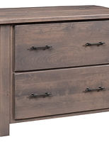 Barn Floor Lateral File Cabinet|Rustic Cherry in Cappuccino OCS119|40in W x 24in D x 32in H|The Amish Home|Amish Furniture at the Pittsburgh Mills
