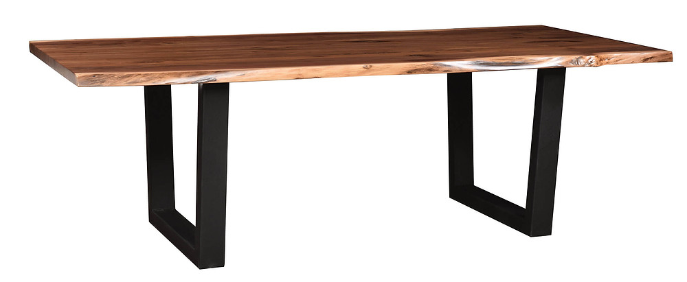 $1760 as displayed in our showroom 42in x 72in (no leaves available on live edge tables) Walnut in Natural Finish (clear catalyzed protective finish)