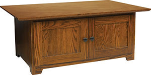 Mission Enclosed Coffee Table| in |40in W x 26in D x 17in H|The Amish Home|Amish Furniture at the Pittsburgh Mills