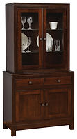 Hampton Meadow 2 Door Hutch Brown Maple in Rich Tobacco OCS228 38in W x 15in D x 74in H The Amish Home Amish Furniture at the Pittsburgh Mills