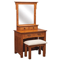 Mission Dressing Table | Quartersawn White Oak in Michaels OCS113 | 36in W x 21in D x 30 1/2in H | The Amish Home | Amish Furniture at the Pittsburgh Mills