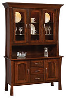 Woodbury 3 Door Hutch|Rustic Cherry in Asbury OCS117|56 1/2in W x 20 1/2in D x 83in H|The Amish Home|Amish Furniture at the Pittsburgh Mills