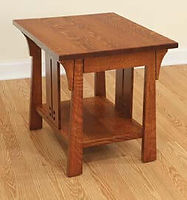 Cantebury End Table | Quartersawn White Oak in Michaels OCS113 | 22in W x 24in D x 24in H | The Amish Home | Amish Furniture at the Pittsburgh Mills
