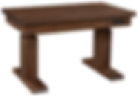 Adjustable Sit-Stand Desk with heavy-duty dual motor lift | Adjusts from 29 1/2in high to 51 1/2in high. 1 3/4in thick top. With storage drawer. | Rustic Walnut in Black Walnut OCS105 | 52in W x 30in D x adjustablein H | The Amish Home | Amish Furniture at the Pittsburgh Mills