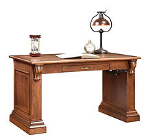 Bradford Writing Table | Cherry in Seely OCS104 | 54in W x 28in D x 30 1/2in H | The Amish Home | Amish Furniture at the Pittsburgh Mills