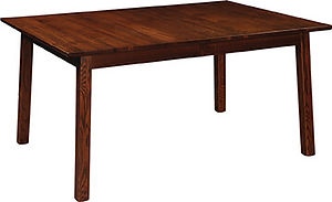 American kitchen table dining table with self storing leaves oak kitchen table Amish furniture Pittsburgh Mills