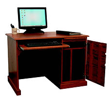 Country Home Computer Flat Top Desk | Oak in Medium OCS110 | 43in W x 27in D x 30in H | The Amish Home | Amish Furniture at the Pittsburgh Mills