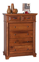 Lindenhurst Bureau|Rustic Cherry in Seely OCS104|39in W x 21in D x 53in H|The Amish Home|Amish Furniture at the Pittsburgh Mills