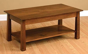 Stratford Coffee Table|Rustic Cherry in Asbury OCS117|42in W x 22in D x 18in H|The Amish Home|Amish Furniture at the Pittsburgh Mills